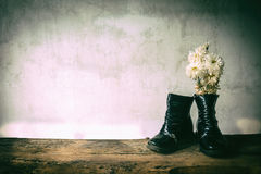 Still life old child deteriorate. Royalty Free Stock Images