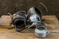 Still life with old classic kettle Stock Photography