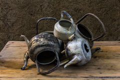 Still life with old classic kettle Royalty Free Stock Image