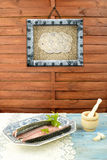 Still life  old fish tray Stock Photos
