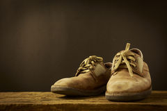 Still Life Old Leather Shoe Royalty Free Stock Photos