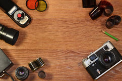 Still-life with old photography equipment Royalty Free Stock Image
