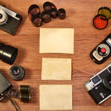 Still-life with old photography equipment Royalty Free Stock Images
