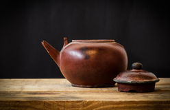 Still life with old teapot Stock Images