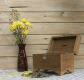 Still life old treasure box Stock Photos