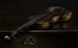 Still life with old violin Royalty Free Stock Photos