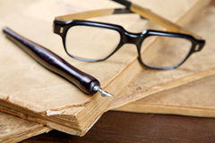 Still-life with old writing-books Royalty Free Stock Image