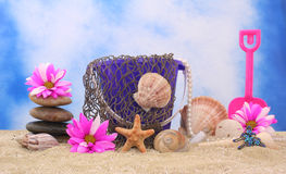 Still Life On Beach Royalty Free Stock Images