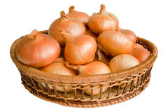 Still life with onions Stock Images