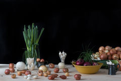 Still life with onions Royalty Free Stock Images