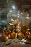 Still-life with orange agarics Royalty Free Stock Photo