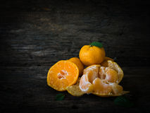 Still life oranges fruit on texture wood. Royalty Free Stock Photo