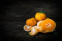 Still life oranges fruit on texture wood. Stock Photo