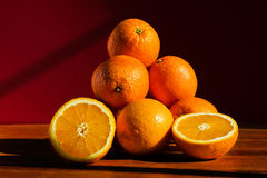 Still life with oranges Stock Images