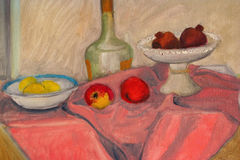 Still life painted canvas as background. Stock Photo