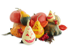 Still-life with painted halloween Stock Image