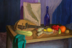 Still life painting royalty free illustration