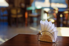 Still life with paper napkin holder Royalty Free Stock Photography