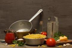Still life with pasta Stock Photos