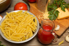 Still life with pasta Royalty Free Stock Photo