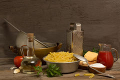 Still life with pasta Royalty Free Stock Photos