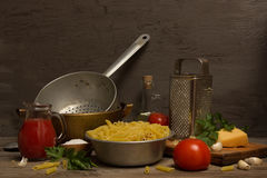 Still life with pasta Royalty Free Stock Photo