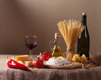 Still life with pasta Stock Image