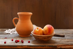 Still life with  peaches Royalty Free Stock Photography