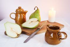 Still life with pears Royalty Free Stock Images