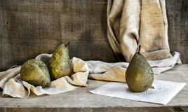 Still life with pears Stock Images