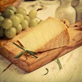 Still life with Pecorino Toscano Stock Images