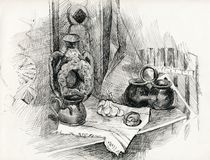 Still life. pencil drawing. Royalty Free Stock Photo
