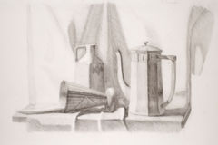 Still life pencil drawing vector illustration
