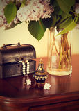 Still life with perfume bottle Royalty Free Stock Photography