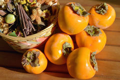 Still life, persimmon. Close-up Stock Photo