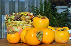 Still life, persimmon. Close-up Stock Photography