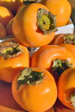 Still life, persimmon. Close-up Stock Image