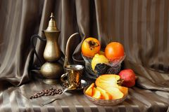Still life with persimmons Stock Image