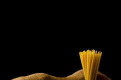 Still life photo, background with pasta and cheese Stock Photography