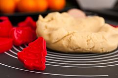 Christmas ginger cookies making still life Royalty Free Stock Image