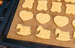 Christmas ginger cookies making still life Stock Photography
