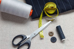 Still life photo of the sewing and handmade Royalty Free Stock Photos