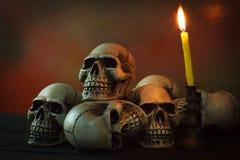 Still life photography with human skull. Still life photography concept with human skull royalty free stock image