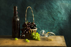 Still life Photography with Old white wine Stock Photos