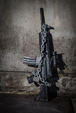 Still life Photography with Weapons of war. Stock Photography