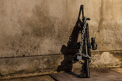 Still life Photography with Weapons of war. Stock Photos