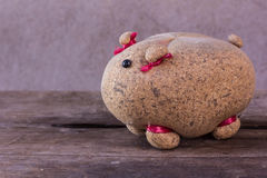 Still life with pig doll Royalty Free Stock Image