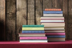 Still life with a pile of books. Still life with books. Back to school Stock Images