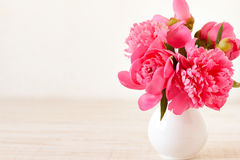 Still life with pink flowers Royalty Free Stock Photo