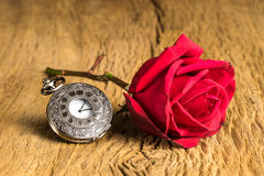 Still life pocket watch Stock Photos
